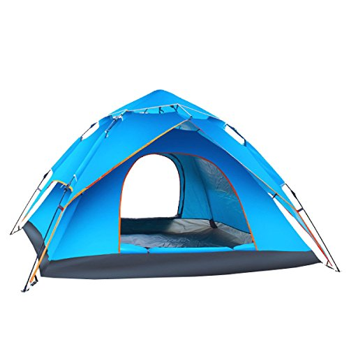 Tente KUWOMINI.Camping Tente Extérieure Travelite Backpacking Family Dome,Blue-AllCode