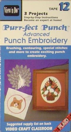 Tape 12: Purr-fect Punch, Advanced Punch Embroidery, 3 Projects, Step-by-step Instructions Become (Step Embroidery Instructions)