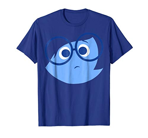 Disney Pixar Inside Out Sad Face Halloween Graphic T-Shirt (Disney Inside Out)