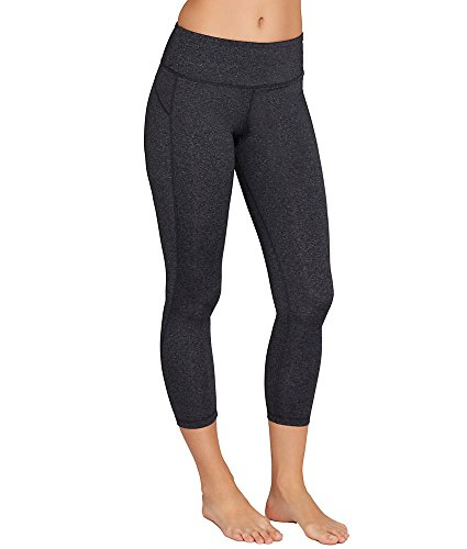 MSP by Miraclesuit Essentials Firm Control Cropped Leggings, XL, Charcoal Heather