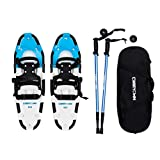 """Carryown Snowshoes Snow Shoes 14"""" /21""""/ 25""""/ 27""""/ 30"""" for Adults Men Women Youth Kids + Pair Antishock Snowshoeing Poles + Carrying Tote Bag"""