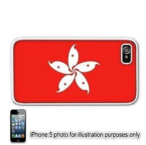 Hong Kong Flag Apple iPhone 5 Hard Back Case Cover Skin White by ruishername