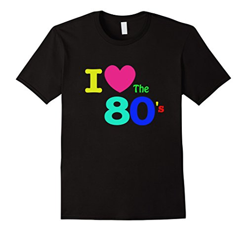 [Men's I love the 80s Fashion Costume Shirt 2XL Black] (80s Fashion Men)