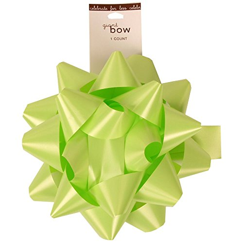 JAM Paper® - Large Bright Lime Gift Bow - 7 Inch Diameter- sold individually