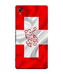 ColorKing Football Switzerland 08 Red shell case cover for Sony Xperia XA1