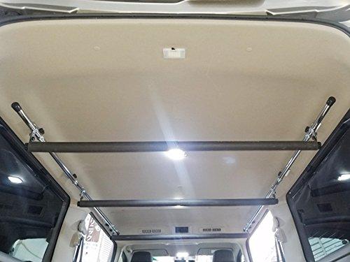高さ自由自在!NV350 キャラバン GX サイドバー&スライドバー3本セット 車内キャリア B0782NNPFV