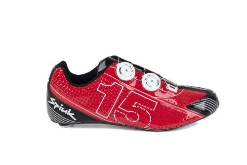 Spiuk 15 Road Carbono - Zapatilla de ciclismo unisex Rojo / Blanco