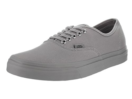 Vans Unisex Authentic (Primary Mono) Frost Grey Skate Shoe 12 Men US