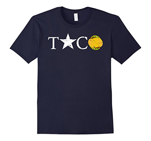 Mens Taco Star Taco T-shirt XL Navy