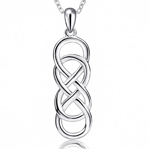 Apotie 925 Sterling Silver Infinity Love Celtic Knot Pendant Necklaces Jewelry Gift for Women ...
