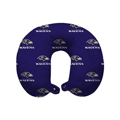 Pegasus Sports NFL Baltimore Ravens Baltimore Ravens U-Neck Polyester Travel Pillow, Purple
