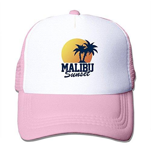 Mens Vintage Malibu Sunset Mesh Back Hat Baseball Hat (Spray Rose Royal)