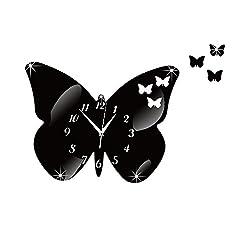 Kay Cowper Acrylic Butterfly Mirror Wall Clock Wall Sticker Mural Artist Home Decoration