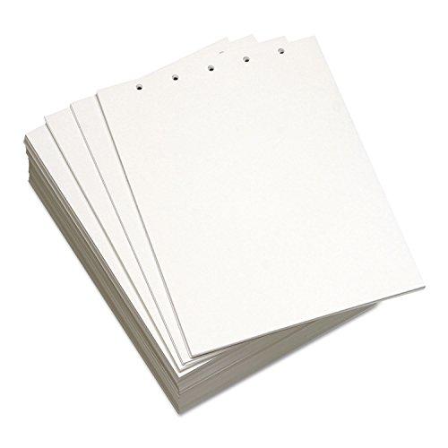 Domtar 851254 Custom Cut-Sheet Copy Paper, 20 lb, 8 1/2 x 11, White, 5-Hole Top, 500 sheets/RM