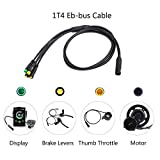 Bafang Electric Bicycle Conversion Kits Accessories 1T4 Cable BBS BBS01 BBS02 BBSHD Mid Motor to Connect with Display Brakes Throttle