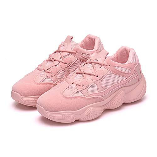 Invierno Running Alta Sneakers Cordones 35eu Malla Life Para Talón Atletismo 876 Zapatos Calzado Rosa uk Correr Otoño Mujers Casual Fitness Deportivo Plataforma Licy 40eu De Zapatillas Chunky W1a8A00wq