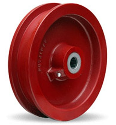 Double-Flanged-Track-Wheel-9-14-Diameter-x-1-12-Face-x-3-14-Hub-length-with-1-Roller-Bearing