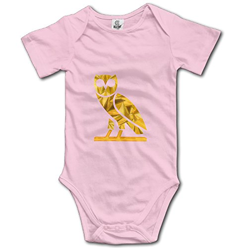 Price comparison product image Jonesseller Baby Crawl Walk Night Owl Body Suit Pink 24 Months