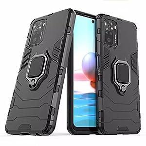 Spazy Case® Redmi Note 10 / Redmi Note 10S Dual Layer Armor Defender Full Body Protective + PC Hybrid Kickstand Back…