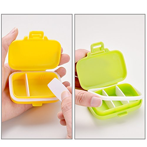 Jovitec Pill Cases 3 Removable Compartments Plastic Waterproof Pill Box Case Organizer Medicine Holder for Daily and Travel Use (8 Pieces) by Jovitec (Image #2)