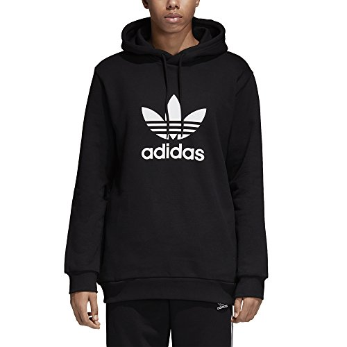 (adidas Originals Men's Trefoil Hoodie, Black, Medium)