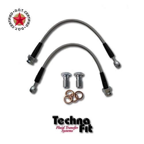Techna-Fit Brake Lines NISSAN 2/1994-6/1996 240SX FRONTS (2) - NIS-1220F