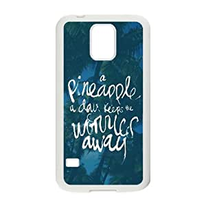 Samsung Galaxy S5 Cell Phone Case White A Pinneapple A Day LSO7760038