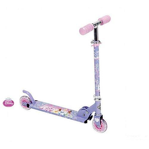Huffy Disney Princess Inline Folding Scooter, Pink/Purple ()