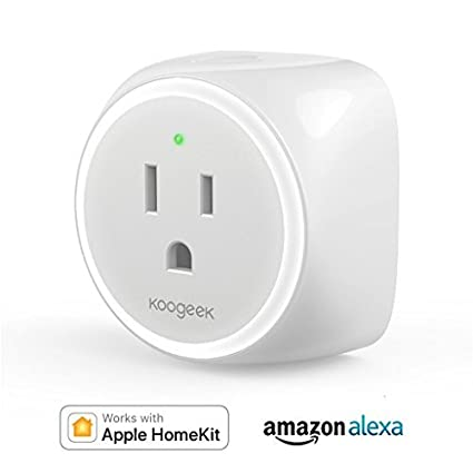 Koogeek Smart Plug, WiFi Outlet, on 2 4Ghz Network, for iOS and Android  Devices Remote Control, Night Light, Works with Alexa and Apple HomeKit