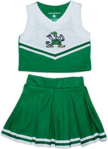 Piece Cheerleader 2 Dress (University of Notre Dame Fighting Irish Leprechaun NCAA College 2-Piece Cheerleader Dress,Nd Green,4T)