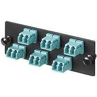 Panduit FAP6WAQDLCZ Multi-Mode 6-Port Fiber Adapter Panel with Zirconia Ceramic Split Sleeve, Aqua