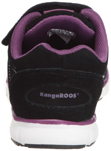 KangaROOS Nuri-Suede 1125E/566 - Zapatos de ante para niños Negro