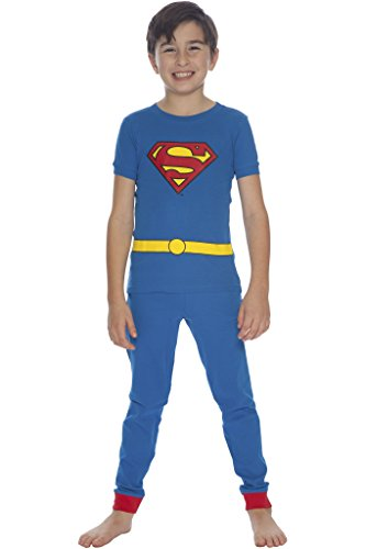 DC Comics Baby Boys' Short Sleeve LL Superman 2 Piece Cotton Infant, Blue, 24 Months