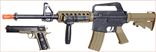 Soft Air COLT RIS Spring Rifle and Pistol On-Duty Kit (Best Spring Airsoft Rifle)