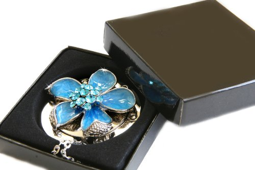 Blue Iris Foldable Purse Hanger Table Bag Hook with FREE Gift Box by Small Goby