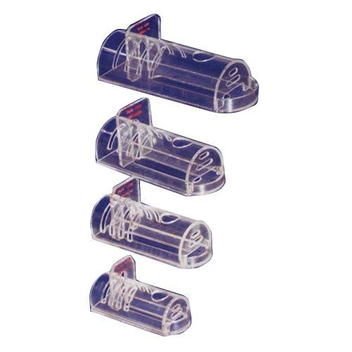 Plas-Labs 542-RR Rodent Retainer, Flat Bottom, Medium, 2î diam. x 5î, for Animal Range 30 to 125 g