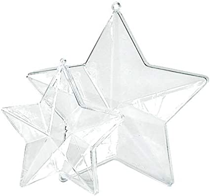 "Acrylkugel /""Glocke/"" teilbar mit Öse 9cm Weihnacht Basteln transparent Kunststoff"