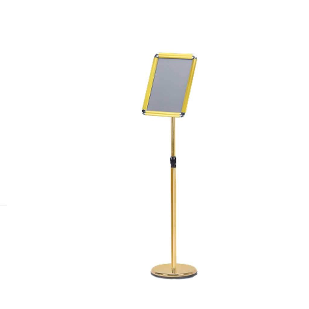 A4 Adjustable Poster Stand Display Snap Frame Sign Advertisement Holder Floor (Color : Silver)