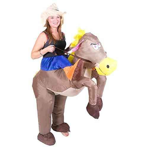 Bodysocks Adult Inflatable Cowboy Fancy Dress