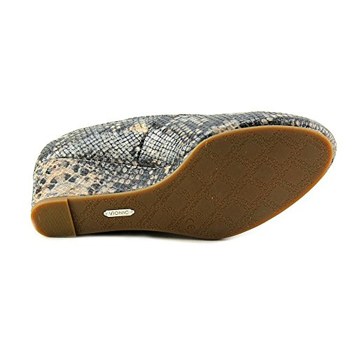 Vionic Antonia Womens Leather Wedge Natural Snake - 6.5 by Vionic (Image #1)