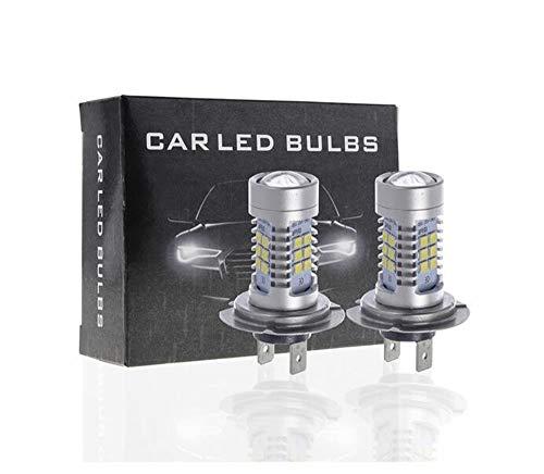 SixDu Automobile H7 3030 21SMD 21W - Faros antiniebla LED (2 unidades)