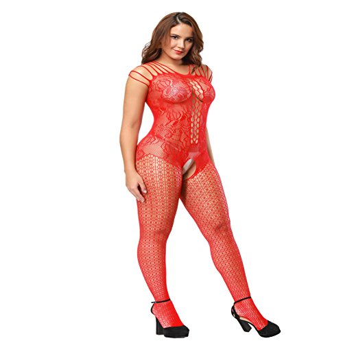 062706f77a6 Deksias Fishnet Bodystocking Plus Size Crotchless Bodysuit Lingerie for  Women - Buy Online in Kuwait.