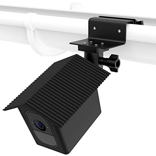 Koroao Weatherproof Housing Gutter Mount for Arlo Pro, Arlo Pro 2 - Sunscreen and Rustproof Outdoor Holder with Wider Perspective(Black)