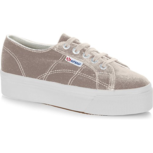 Superga Grey Light Femme Baskets velvetchenillew Tortora 2790 AqnrCPqxH