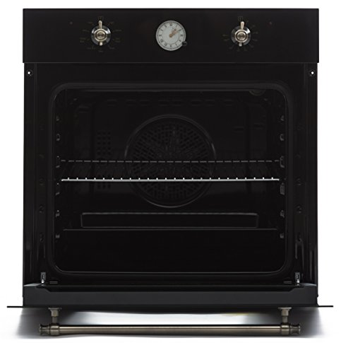 mpered Glass Built in Single Wall Electric Oven 220V HYK-24WOGD-01 Retro Classic Design ()