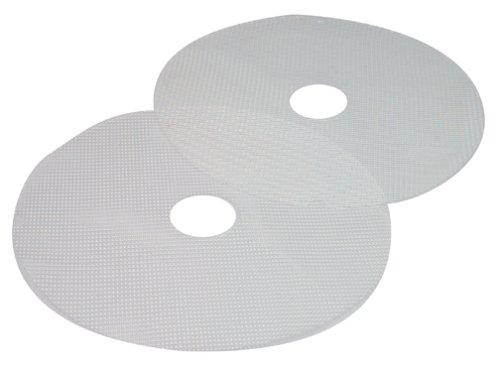 Nesco MS-2-6 Clean-a-Screen for Dehydrators FD-1010/FD-1018P/FD-1020, Large, Set of 2, White by Nesco