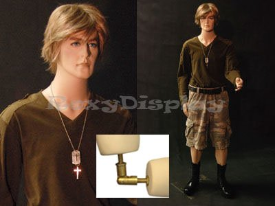 (MD-BC8) ROXYDISPLAY™ Male Mannequin, Flexible arms. Copper arm Joints Roxy Display Inc.