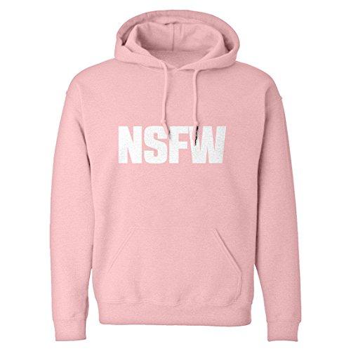 Indica Plateau Hoodie Not Safe for Work Medium Light Pink Hooded Sweatshirt