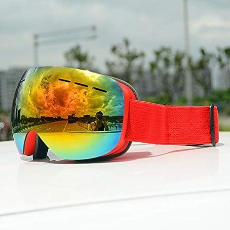 Gafas De Esquí Hombres Mujeres Capas Dobles Anti-Vaho Máscara De Esquí Grande Uv400 Gafas Protección Esquí Invierno Nieve Gafas De Snowboard