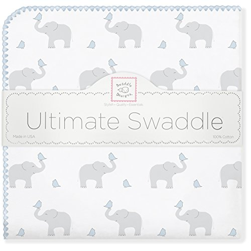 SwaddleDesigns Ultimate Swaddle Elephant Chickies
